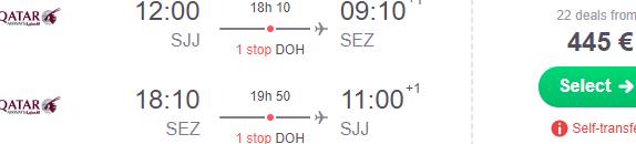 5* Qatar Airways flights from Sarajevo to beautiful Seychelles from €445!