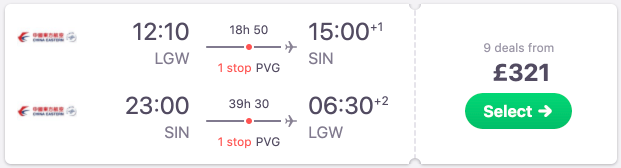 Cheap London to Singapore flights from £321! Emirates options from £393