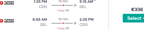 Cheap flights from France to New Delhi, India from €336 return!