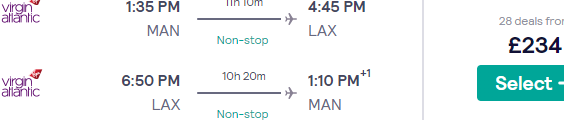 Cheap non-stop flights from Manchester to Los Angeles from £234 return!