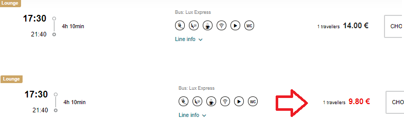 Lux Express promo code: 30% discount off all bus tickets!