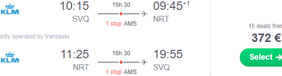 Return flights from Spain to Tokyo, Japan from €372..!