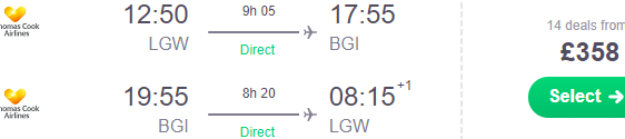Cheap roundtrip flights to Barbados in Caribbean from UK from £358!