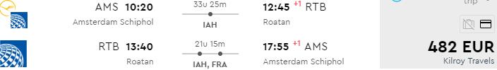 Return flights to the Caribbean isle of Roatán, Honduras from €482!