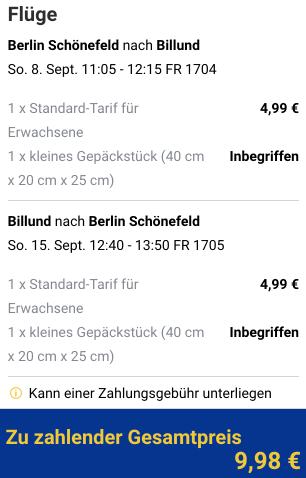 €4.99 one-way flights between Berlin and Billund or €9.98 return. Flights from this weekend!