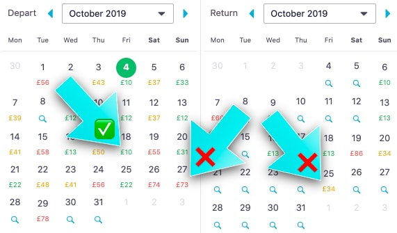 Cheap Flights with Skyscanner - The Ultimate Guide - Calendar View
