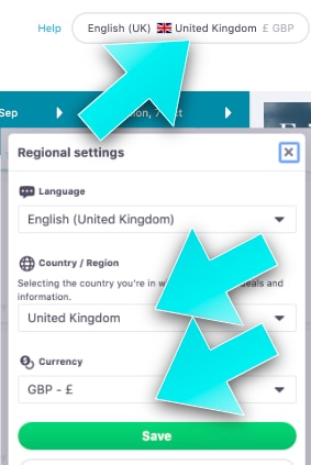 Cheap Flights with Skyscanner - The Ultimate Guide - Region Settings