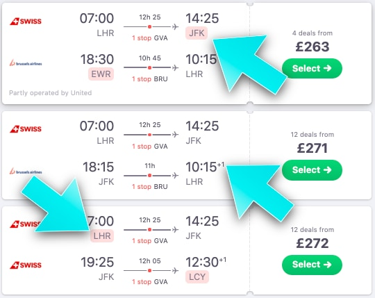 Cheap Flights with Skyscanner - The Ultimate Guide - The Results List