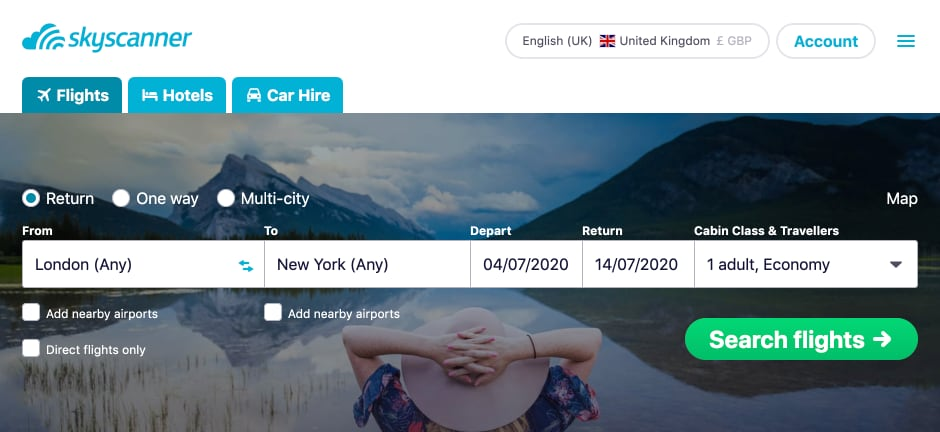 Cheap Flights with Skyscanner - The Ultimate Guide - Skyscanner Homepage
