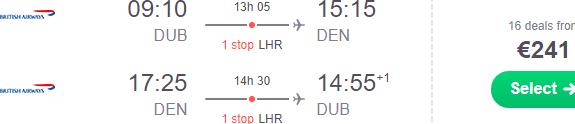Cheap flights from €241 return to over a dozen USA destinations from Ireland!