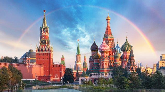 Cheap flights from London to Moscow or St. Petersburg from only £17.98!