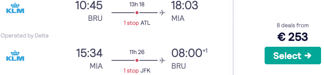 Flights to across the USA from Brussels from a low €253! All destinations sub-€300!