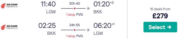 Bangkok Backpacker Bargain! Flights from London for £279 return including 23kg baggage!