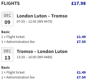 See the Northern Lights for £18 with cheap flights to Tromsø, Norway from London Luton!