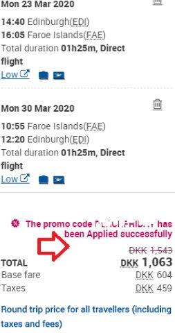 Atlantic Airways promo code