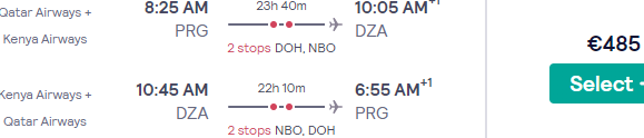 Return flights from Europe to Dzaoudzi, Mayotte from €485 or £503!