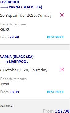 Cheap flights to Bulgaria from £18/€20 return! Fly to coastal Varna on the Black Sea!