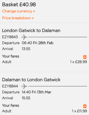 Cheap flights to Turkey! Fly to Dalaman from London from only £41 return!