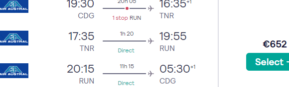 Multi-city flights to Madagascar (Taolagnaro, Tulear, Nosy Be, Antananarivo) & Réunion from Paris at once from €652!