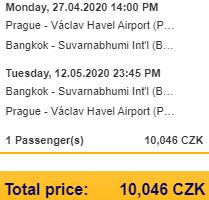 Lufthansa Group flights to Bangkok from Prague from €395 return!
