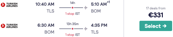 Lots of cheap flights from France and Scandinavia to New Delhi & Mumbai, India, from only €332!