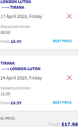 Fly from various European cities to Tirana, Albania from just £17.98 / €19.98 return!