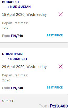 "Fly from Budapest to Nur-Sultan, the ""Dubai of Central Asia"", for only €58 return!"