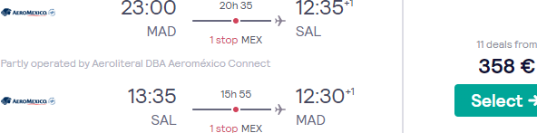 Flights from Madrid to Central America from only €358 return! (Aug 20 - Mar 21)