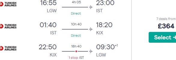 Multi-city flights from London to Istanbul & Japan for £364rtn with 46kg luggage!