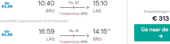 Fly from Brussels to Las Vegas from only €313 return!