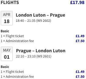 Flights between London and Prague from just £17/€24 return!
