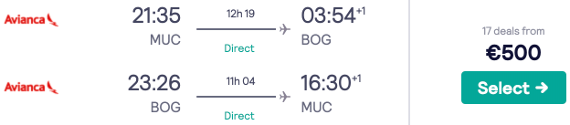 Fly *non-stop* from Munich to Bogota for just €500 round trip!