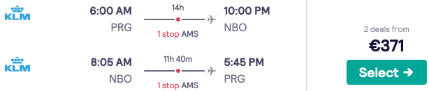 Cheap flights to Nairobi, Kenya from Prague for just €371. Includes luggage!