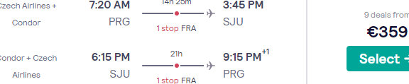 Fly from Prague to Puerto Rico for only €359! Includes 23kg luggage!