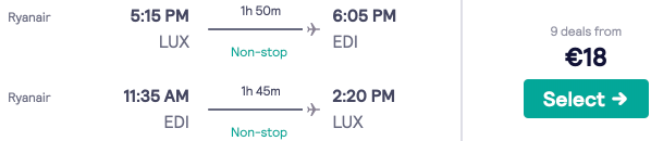 Fly between the UK/Ireland and Luxembourg from €17/£19 return!
