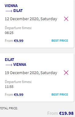 Fly to the Red Sea! Vienna to Eilat, Israel return flights for €19.98!