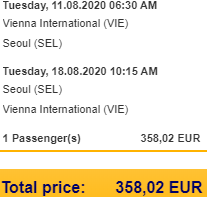 5* Lufthansa AUGUST flights from Vienna to Seoul, South Korea for €358!