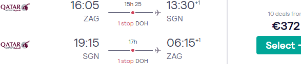 Qatar Airways flights from Zagreb to South East Asia (Vietnam, Thailand, Singapore, Malaysia, Bali) from €372! (Sep 20 - Feb 21)