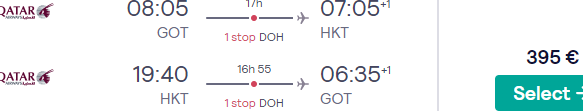 High-season flights from Gothenburg to Thailand (Phuket, Bangkok) from €395!