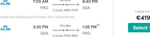 Flight from Prague to airports all across Brazil from €419 return!