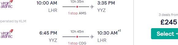 Air France-KLM return flights from London to Toronto from£245!