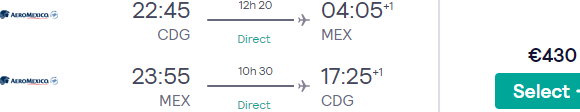 Flights from Paris to 32 destinations in Mexico from €413 return!