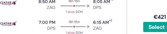 Qatar Airways return & open-jaw flights from Zagreb to Indonesia (Bali, Jakarta) from €421!