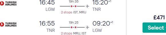 Return flights from London to Antananarivo, Madagascar from £471!