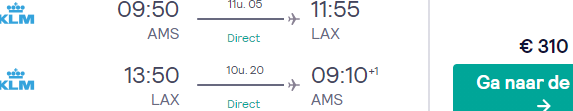 Cheap KLM non-stop flights from Amsterdam to Los Angeles for €310!