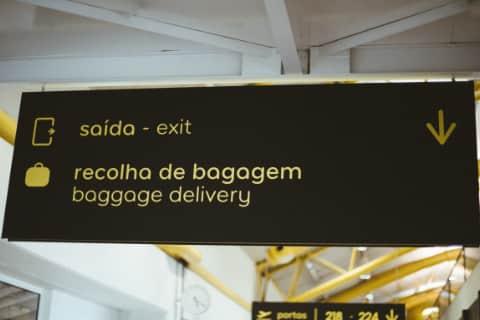 Airport Baggage Sign