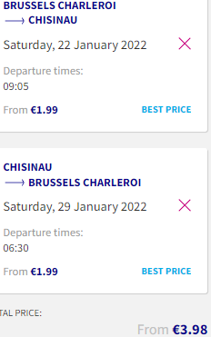 Low-cost flights from Brussels Charleroi to Chisinau, Moldova for just €20 both ways!