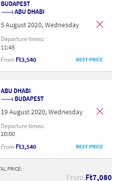 Cheap return flights from Budapest to Abu Dhabi, UAE from €20!