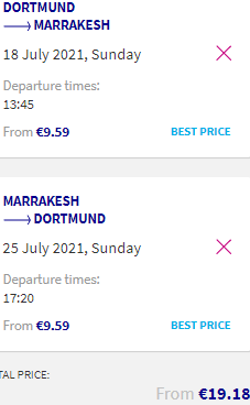 Cheap low-cost flights from Dortmund to Marrakesh, Morocco for €19!