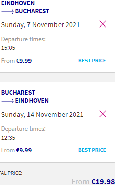 Low-cost flights from Eindhoven to Romania (Iasi, Bucharest) from €20!